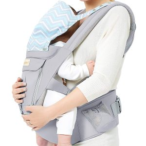Baby Wrap Carrier with Hip Seat