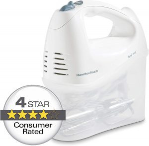 Best Small Kitchen Appliances Hamilton Beach 6-Speed Electric Hand Mixer with Snap-On Storage Case