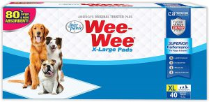 Four Paws Wee-Wee Puppy Training X-Large Size Pee Pads for Dogs