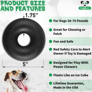 Goughnuts Indestructible Ring Durable Dog Chew Toy