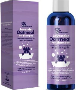 Natural Dog Shampoo with Colloidal Oatmeal - Puppy Shampoo for Dog Bath with Lavender Essential Oil Dog Wash