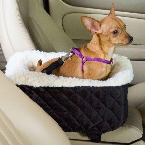 Snoozer Console Pet Car Seat Cream Fur