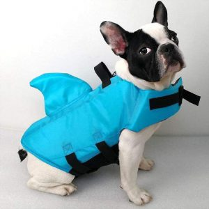 SwimWays Sea Squirts Dog Life Vest wFin for Doggie Swimming Safety