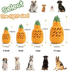 WENXUAN Pineapple Dog Chew Toys for Aggressive Chewer