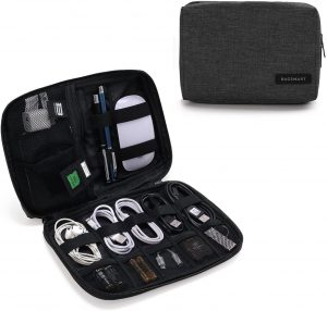 BAGSMART Electronic Organizer Small Travel Cable Organizer Bag for Hard Drives