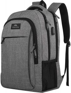 Matein Travel Laptop Backpack, Business Anti Theft Slim Durable Laptops Backpack with USB Charging Port