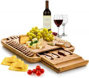 Premium Bamboo Cheese Board Set