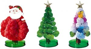 Tbrand 3 Pcs Magic Growing Crystal Christmas Tree, Presents Novelty Xmas Gift for Kids Boy Girl Funny Educational Games Toy,Christmas Decoration Party Toy,Creative Birthday Gift