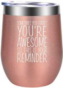 Thank You Gifts, Inspirational Gifts for Women, Gifts for Her - Funny Christmas, Birthday, Encouragement Gifts for Best Friend, Mom, Wife, Daughter, Sister, Coworker, Sister in Law - GSPY Wine Tumbler