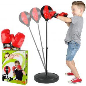 ToyVelt Punching Bag For Kids Boxing Set Includes Kids Boxing Gloves And punching bag