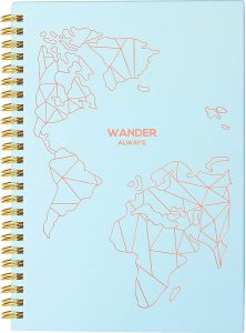 Travel Planner Journal for Women– Travel Notebook and Vacation Journal for 6 Trips