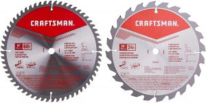 CRAFTSMAN 10-Inch Miter Saw Blade, Combo Pack
