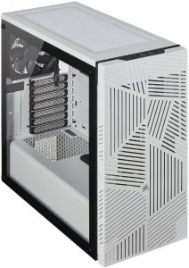 Corsair 275R Airflow Tempered Glass Mid-Tower Gaming Case - White