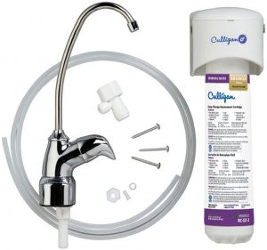 Culligan US 3 EZ-Change Under-Sink Drinking Water Filtration System with Dedicated Faucet and Filter, 500 Gallon, Chrome