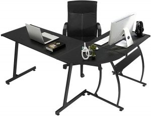 GreenForest L Shaped Gaming Computer Desk