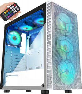 MUSETEX Mesh ATX Mid-Tower Computer Gaming Case