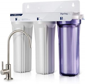 iSpring US31 3-Stage Under Sink High Capacity Tankless Drinking Water Filtration System-Includes
